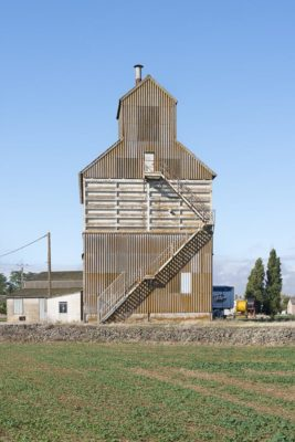 série de 4 silos agricoles Membrolles 41